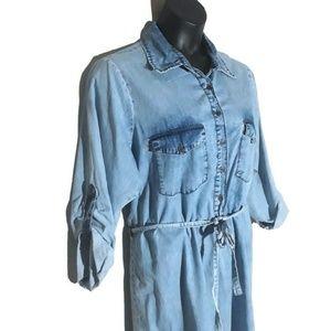 Speed Control Blue Jean Dress